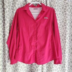 Colombia PFG Fishing Shirt Button Down Pink